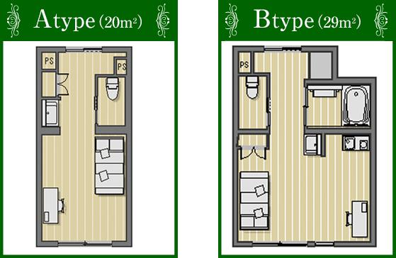 Atype(20m2) Btype(29m2)